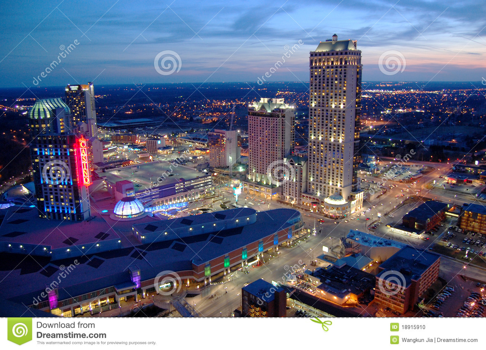 Niagara Falls Casino And Resorts Stock Photo - Image: 18915910