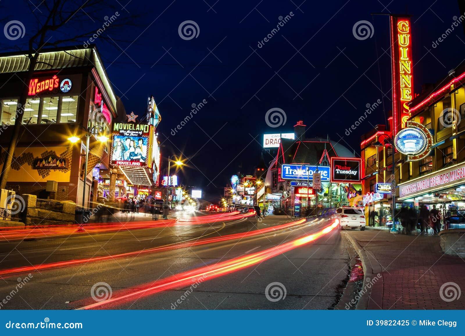 Niagara Falls Centre Street Editorial Image Image 39822425