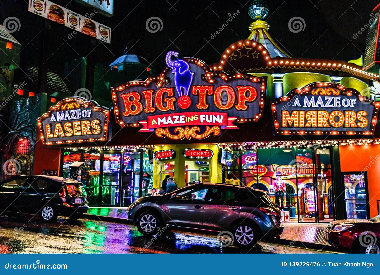 Niagara Falls Downtown Ontario Canada Editorial Photo