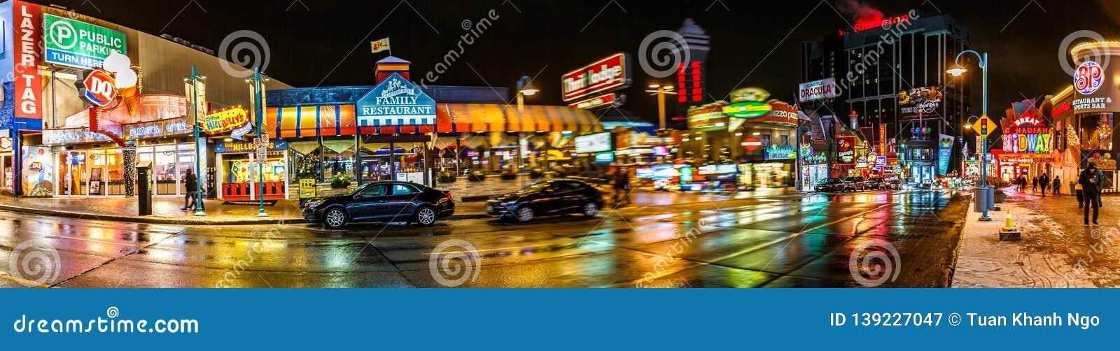 Niagara Falls Downtown Ontario Canada Editorial