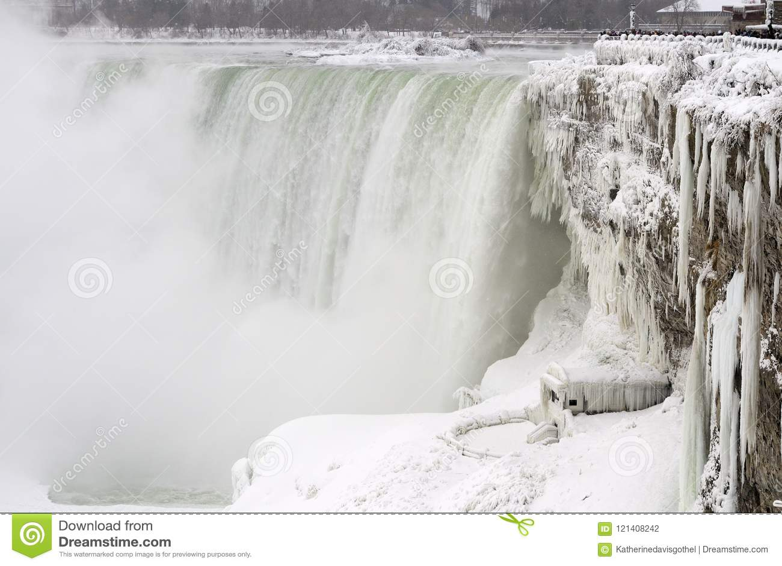Niagara Falls, ice and snow, winter