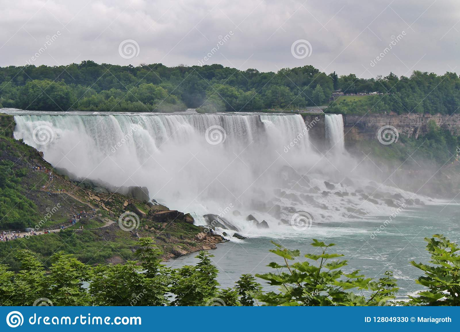 Niagara Falls Is Located On The Border Between Usa And