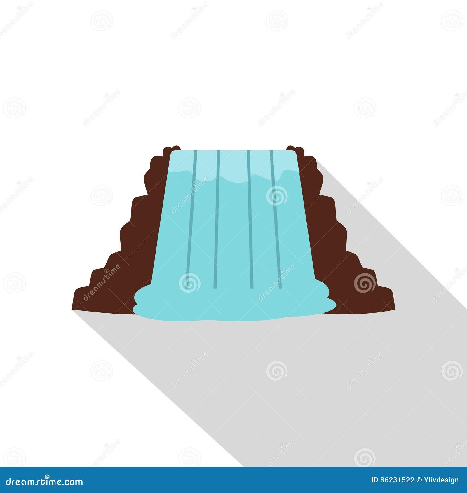 Niagara Falls, Ontario, Canada icon, flat style