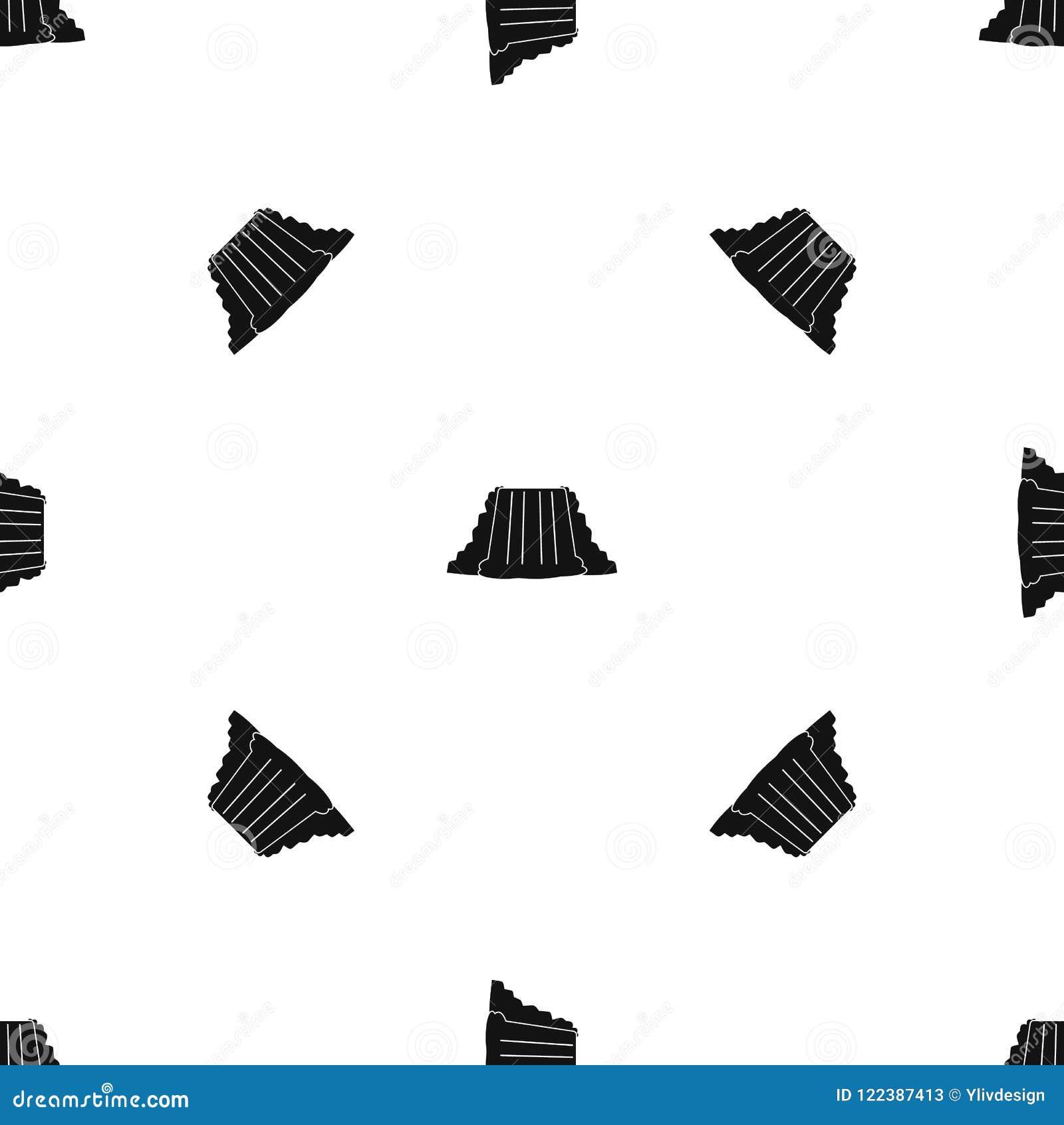 Niagara Falls pattern seamless black