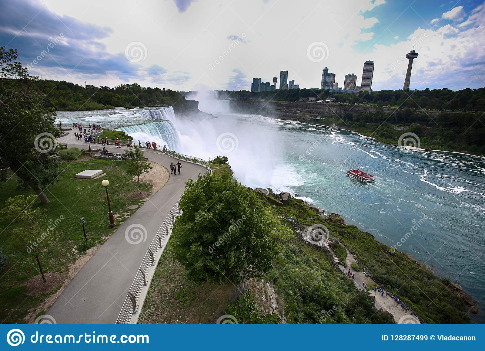 Niagara Falls Usa August 29 2018 Tourists View The