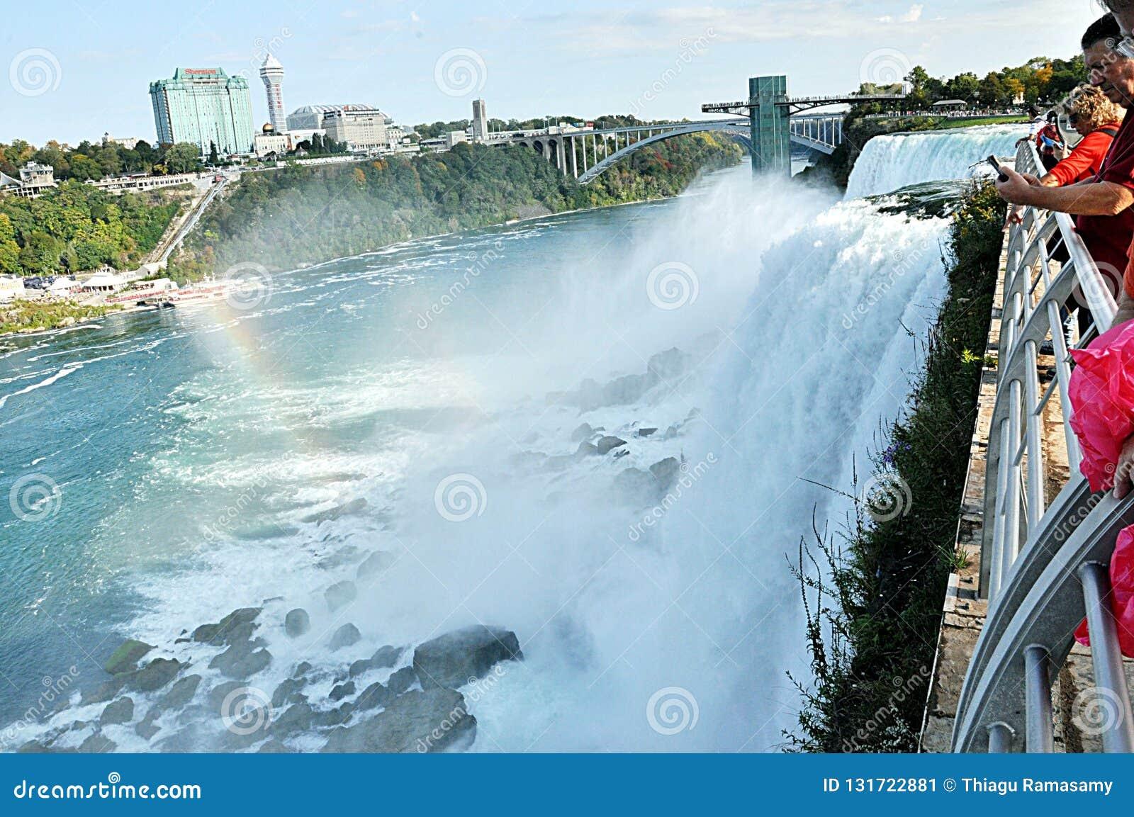 Niagara Falls With View Of Canada Side Editorial Photo Image Of Niagara Scenic 131722881