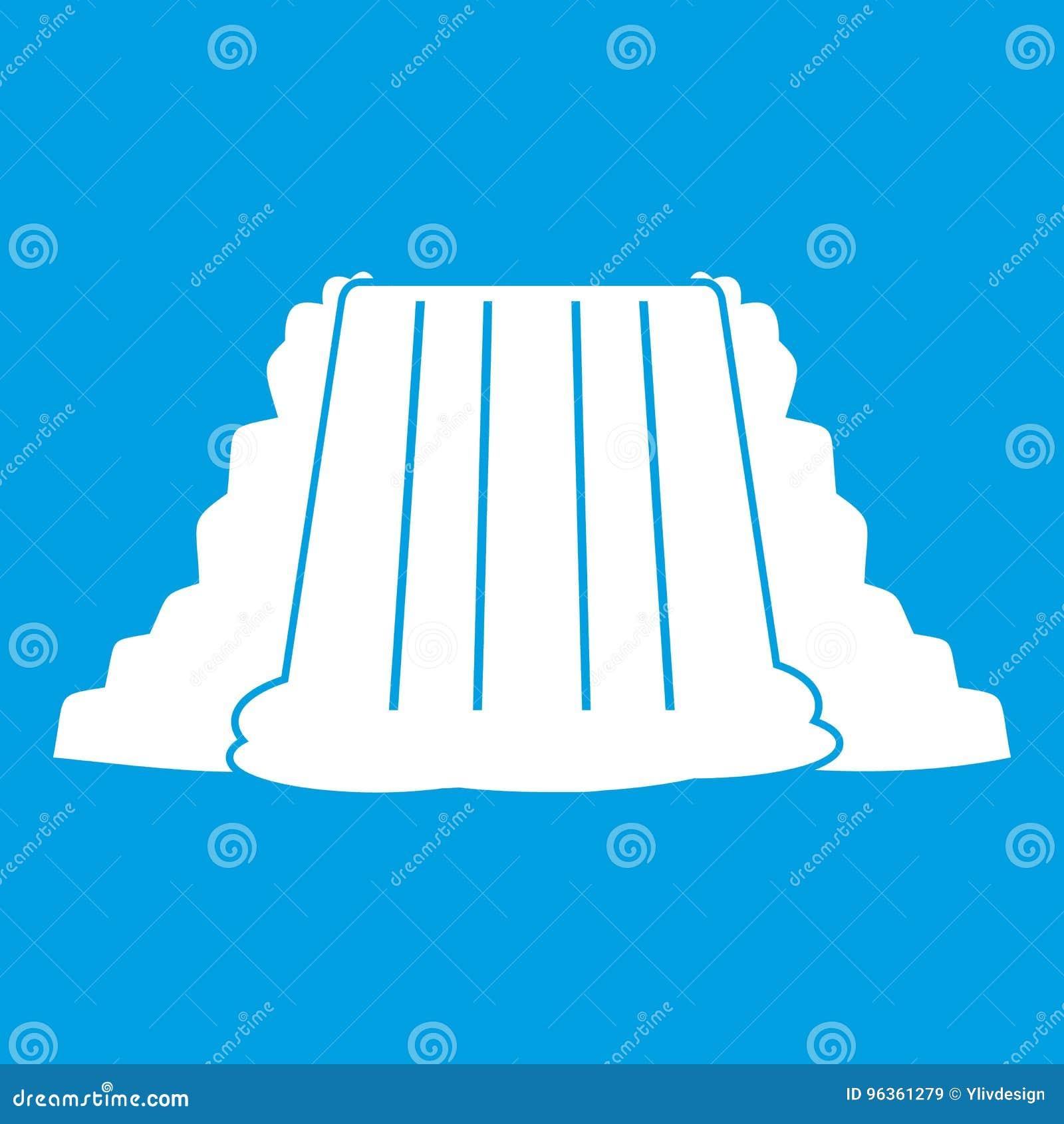Niagara- Fallsikonenweiß