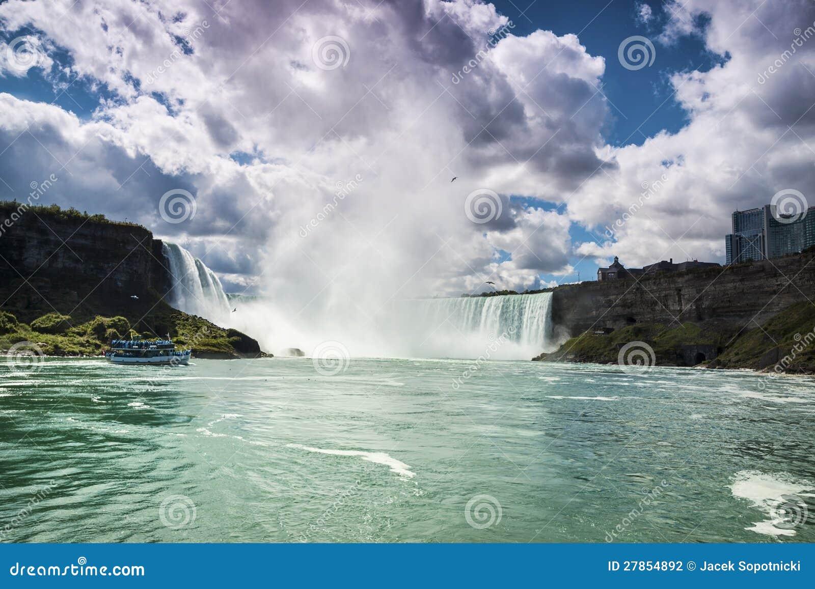 Niagara Spadać Kanada USA