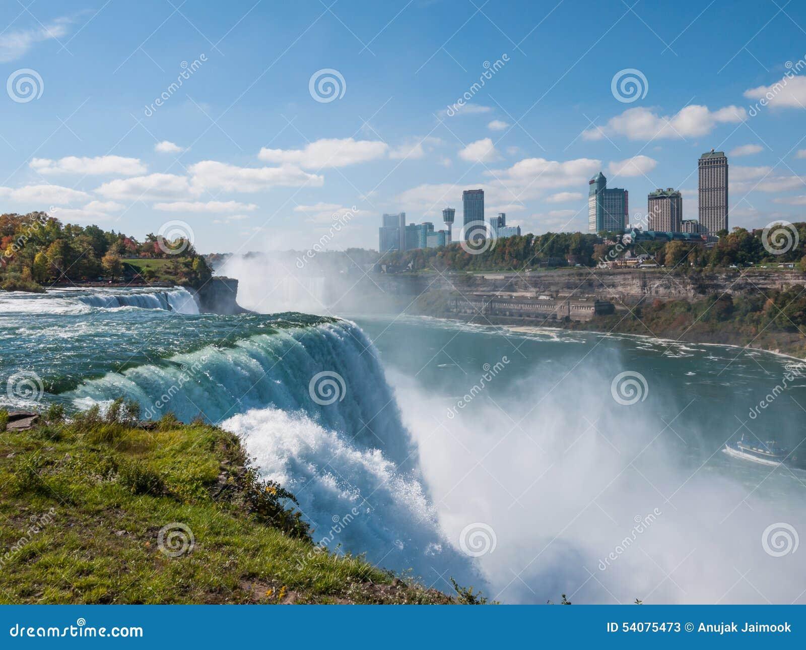 Niagaradalingen in de herfst, de V.S.