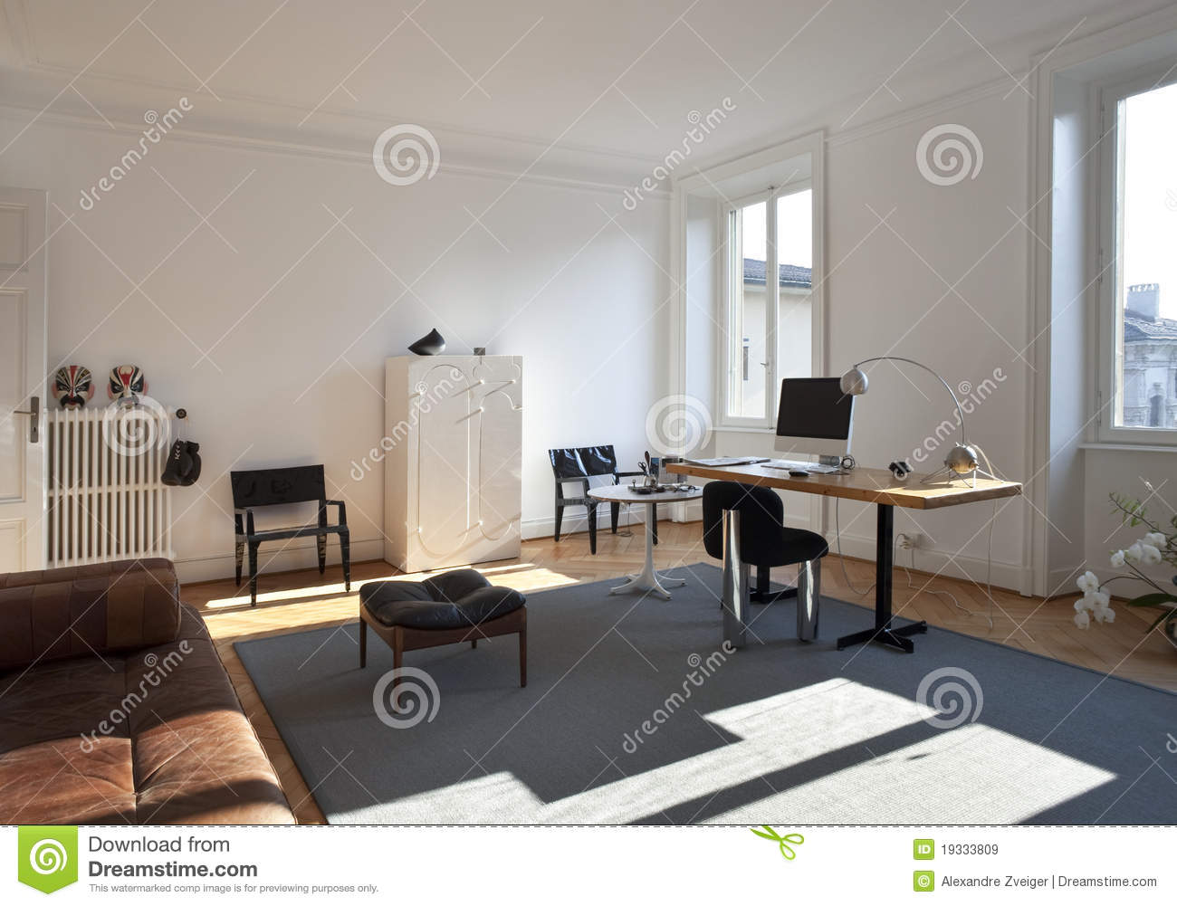 nice apartment refitted studio room royalty free stock