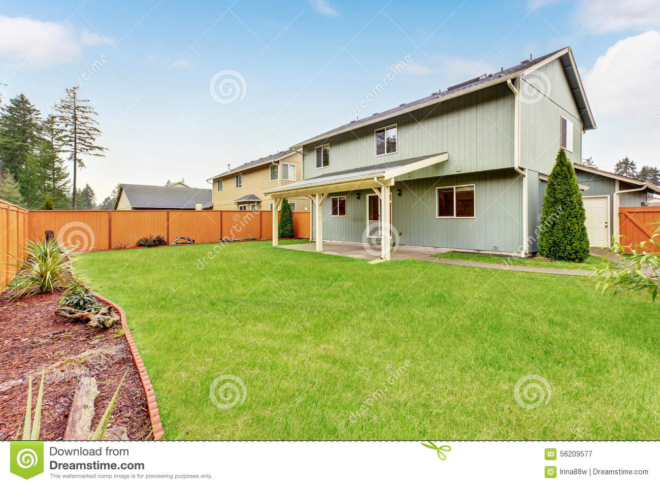 Nice Backyard Patios : More similar stock images of ` Nice backyard with covered patio `