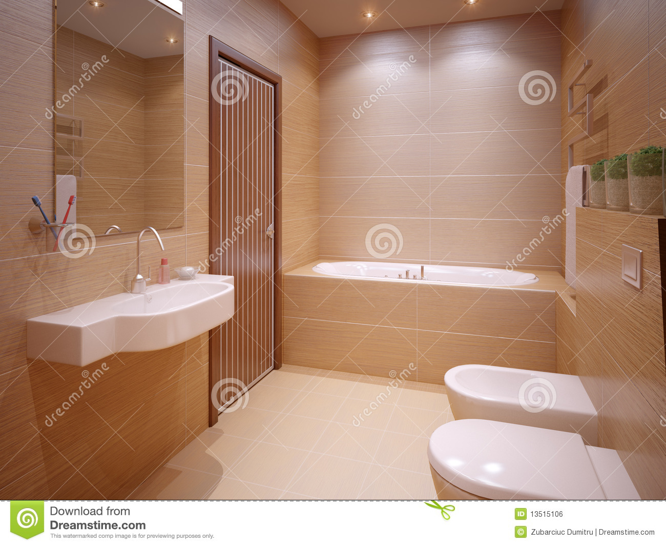 Nice bathroom royalty free stock image image 13515106 for Pics of nice bathrooms