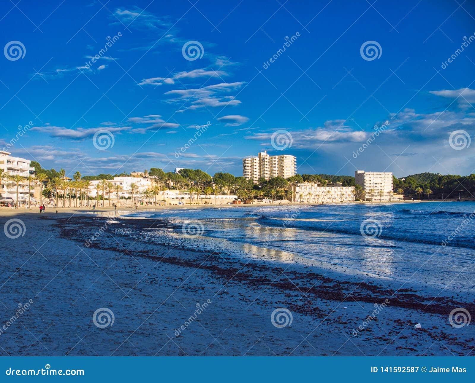Nice beach view in mallorca island