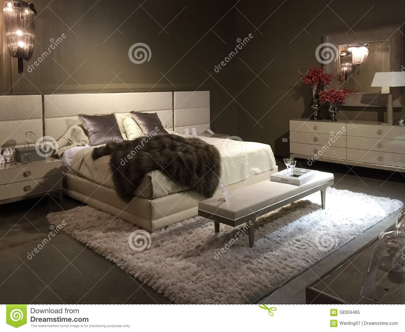 Nice Bedroom Furniture Selling At Store Stock Photo Image 58359465