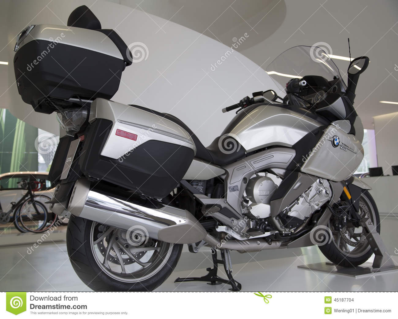 nice bmw electric motorcycle editorial stock image image 45187704. Black Bedroom Furniture Sets. Home Design Ideas
