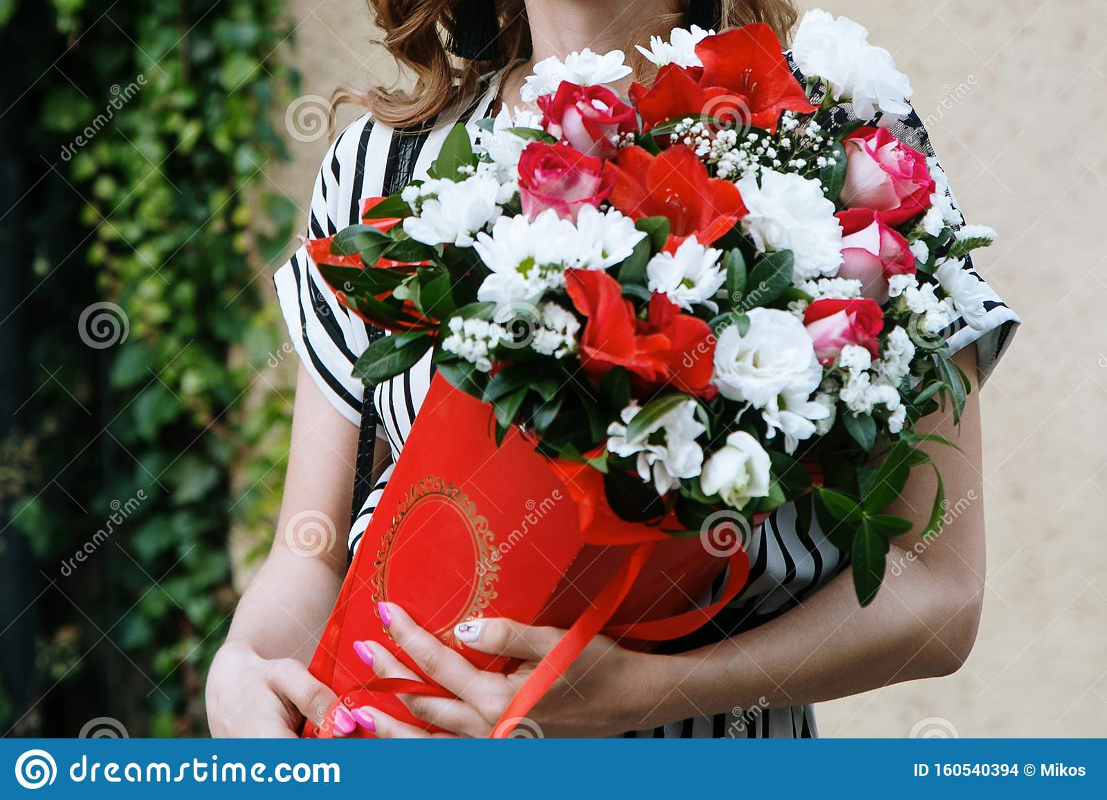 Nice Bouquet In The Hands Stock Photo Image Of Beauty 160540394