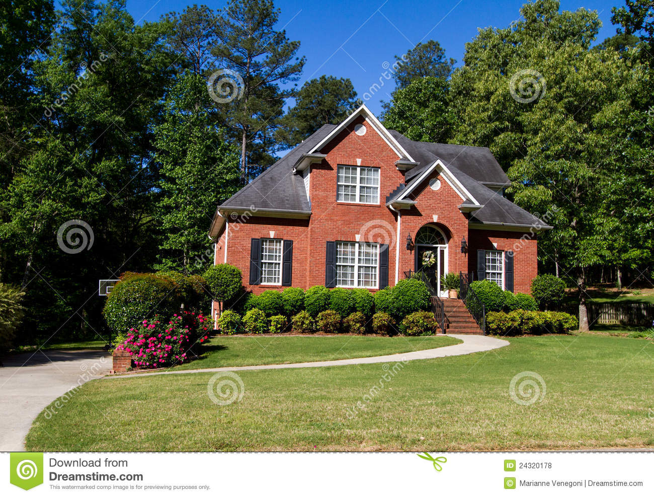 Nice brick home royalty free stock photos image 24320178 for Nice home photos