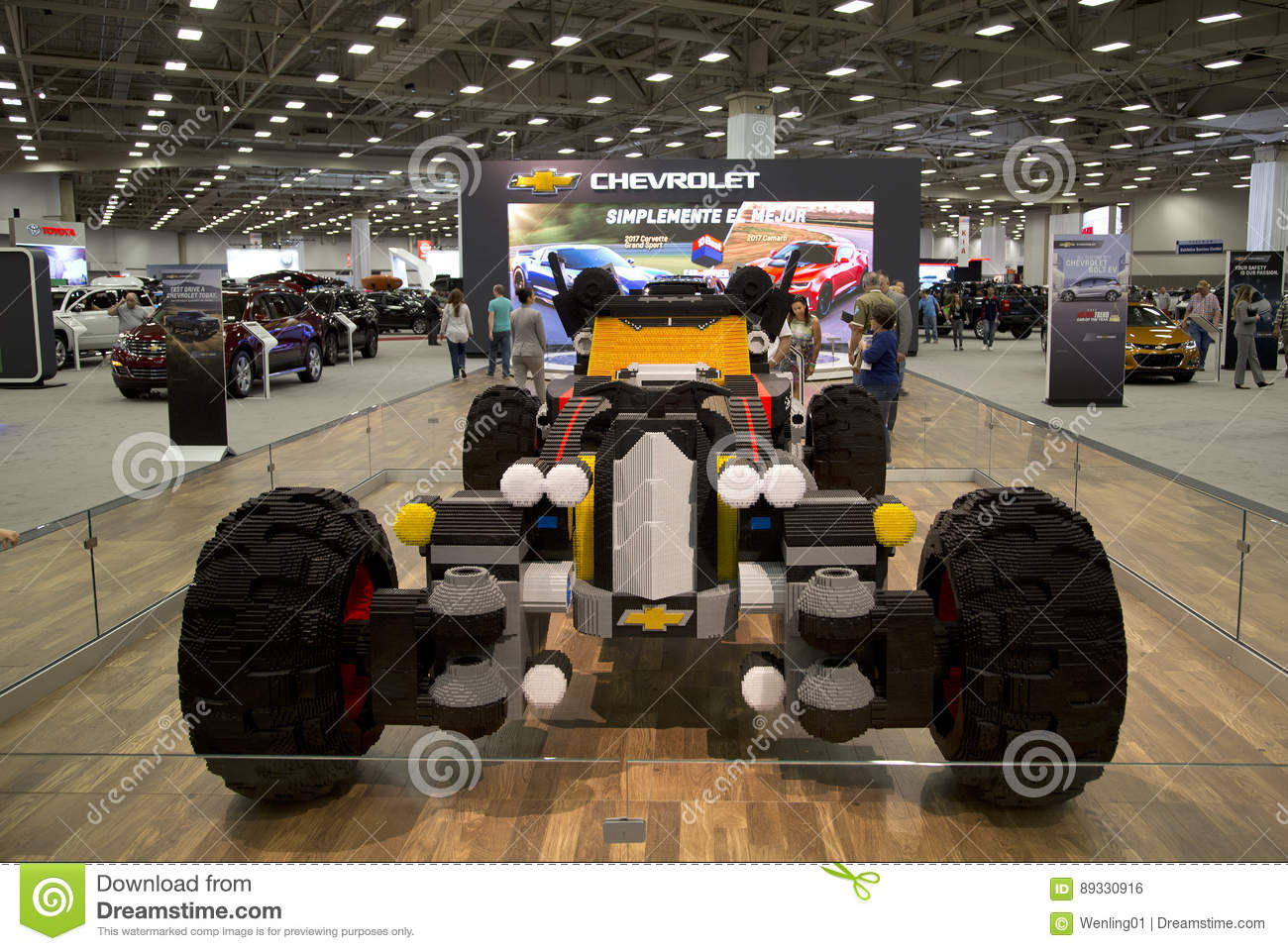 CHEVROLET Car Was Build With Lego In Dallas Auto Show