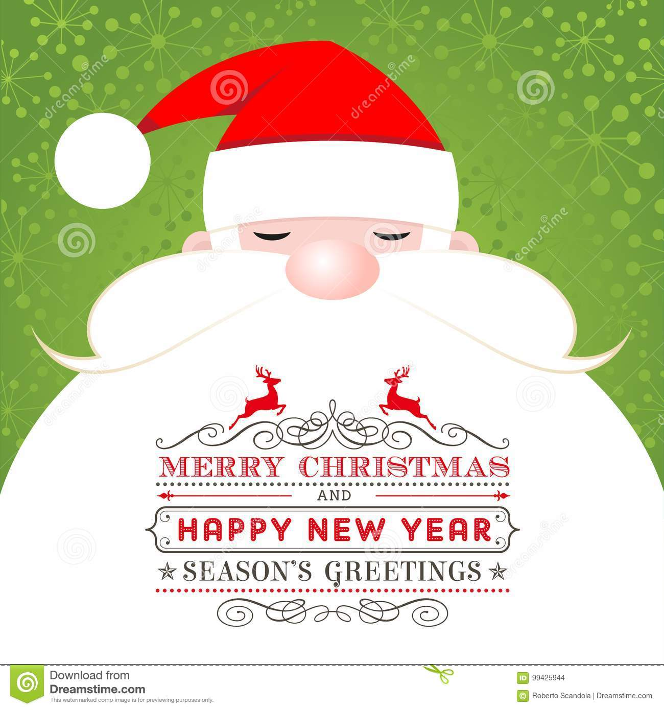 Santa claus christmas greeting card stock vector illustration of a nice christmas illustration with a funny cheerful santa suitable for christmas greeting cards or labels m4hsunfo