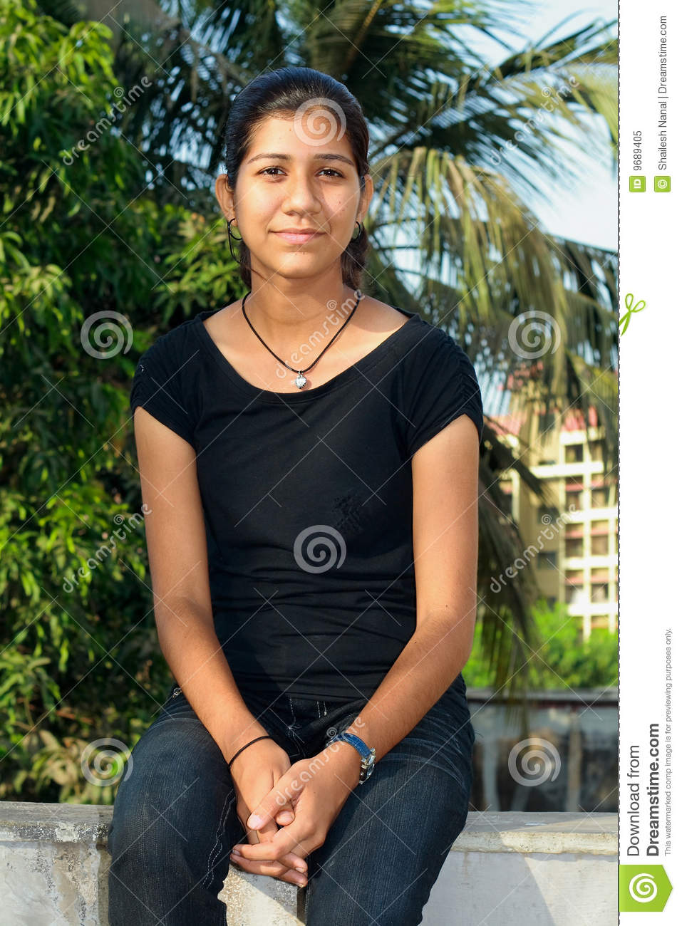 nice college girl royalty free stock photo