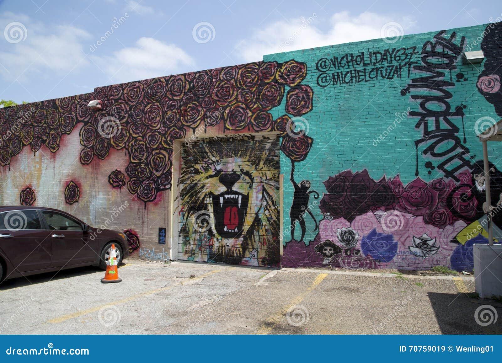 Graffiti wall dallas - Nice Colorful Graffiti On The Wall Royalty Free Stock Images