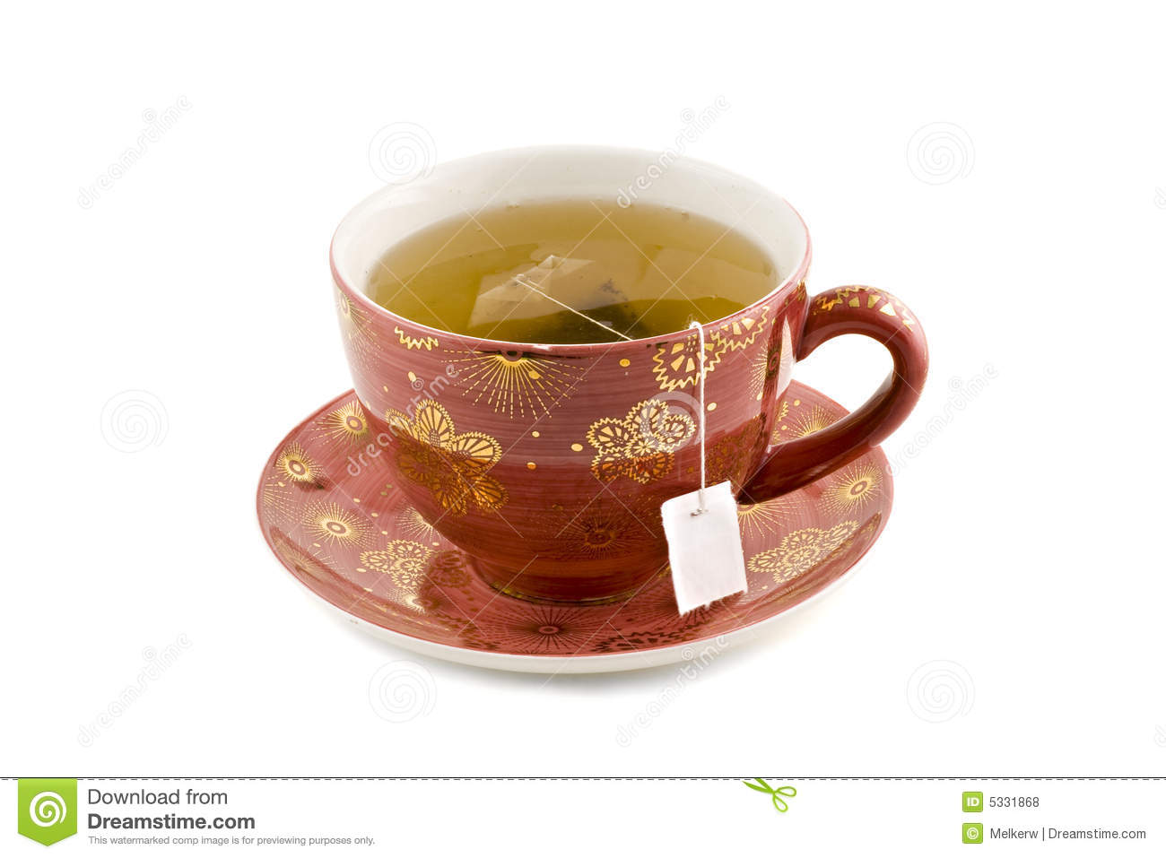 Nice Cup Of Tea Isolated On White Background Royalty Free Stock Photos ...
