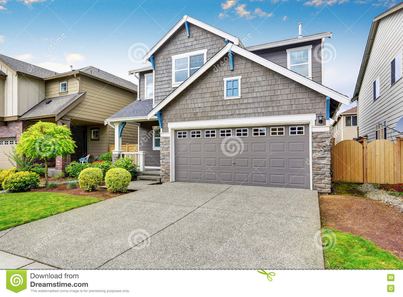 Nice Curb Appeal Of Two Level House Mocha Exterior Paint