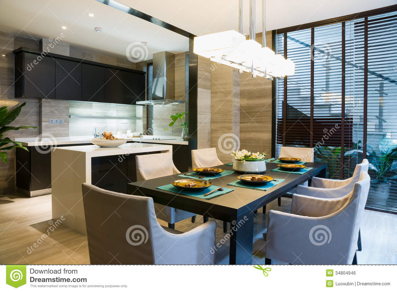 Nice dining room stock photography 42174800 - Nice dining rooms ...