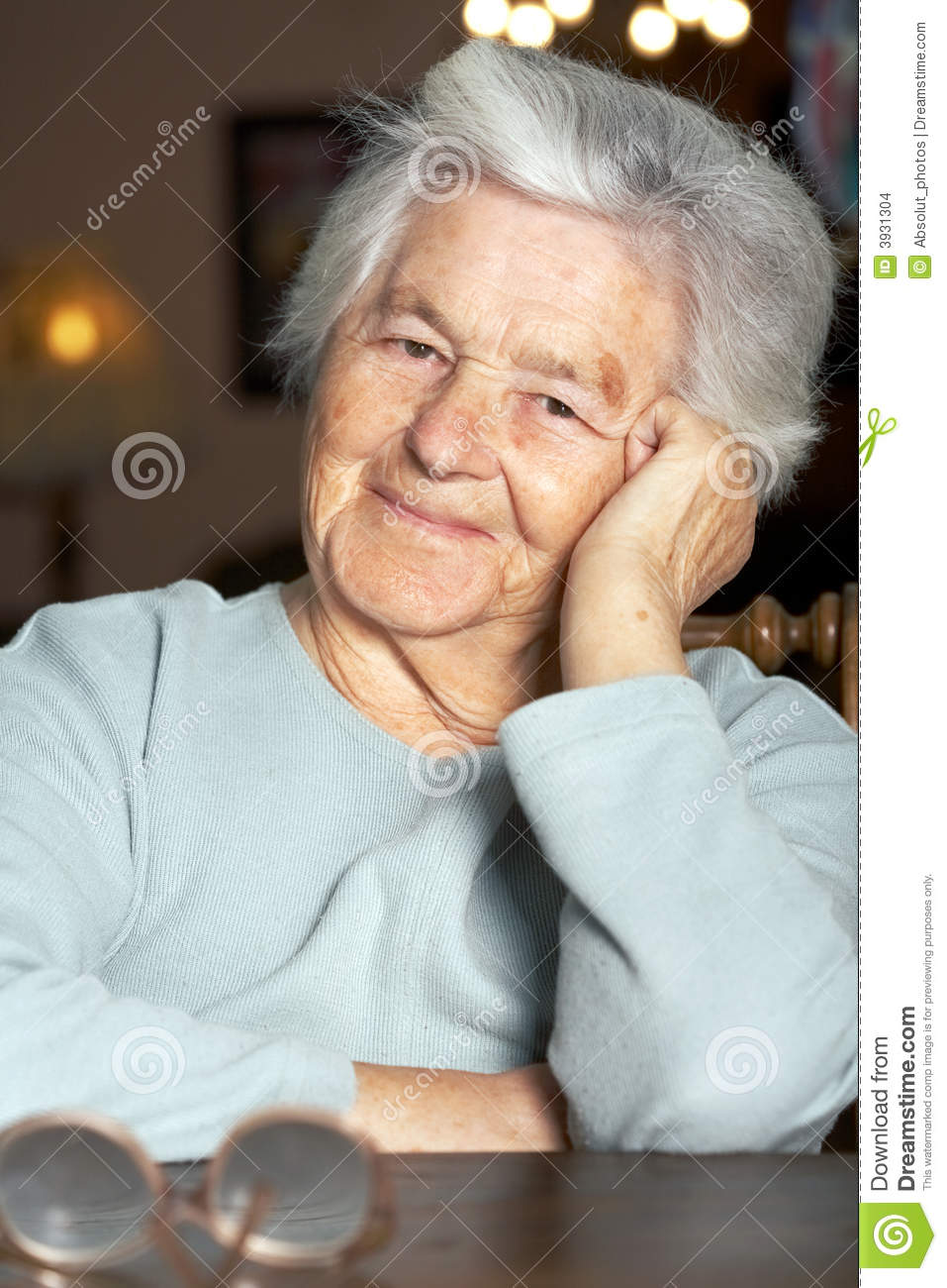 Nice elderly woman