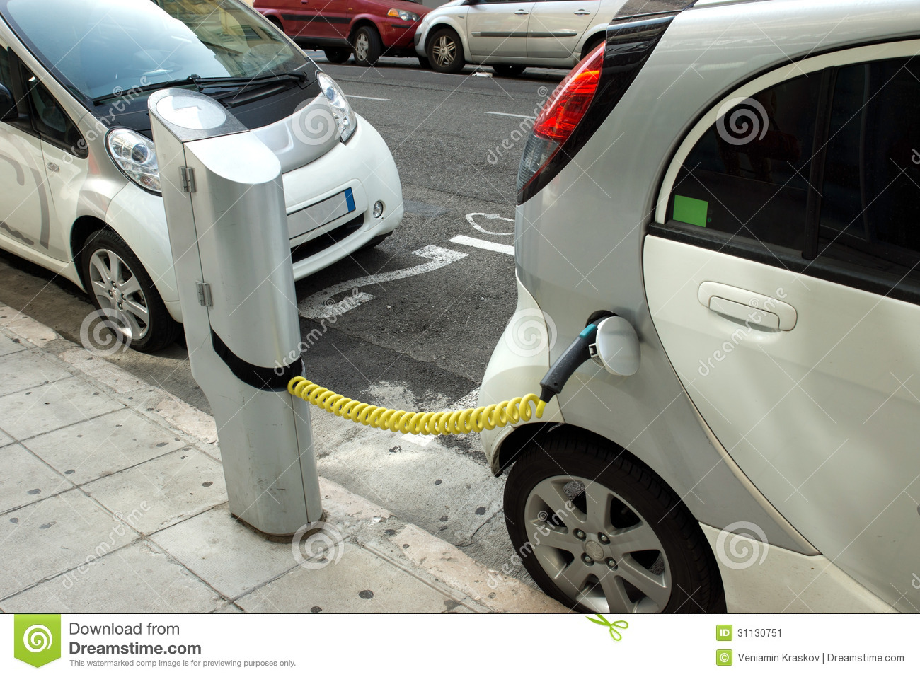 Nice Electric Cars Stock Image Image