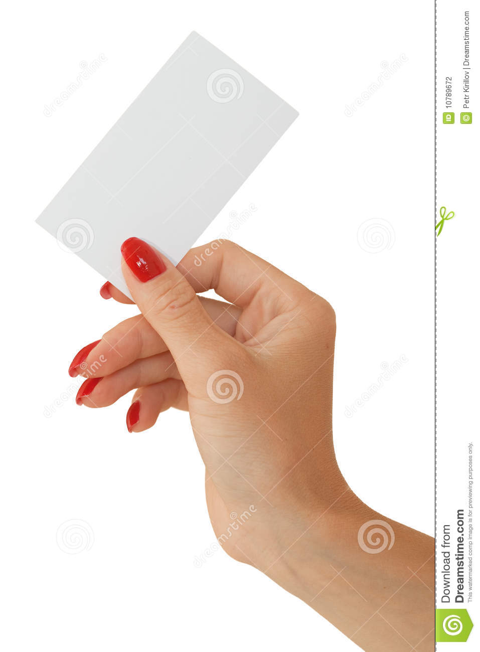 Nice female hand holding a blank business card stock photo image download nice female hand holding a blank business card stock photo image of advert colourmoves