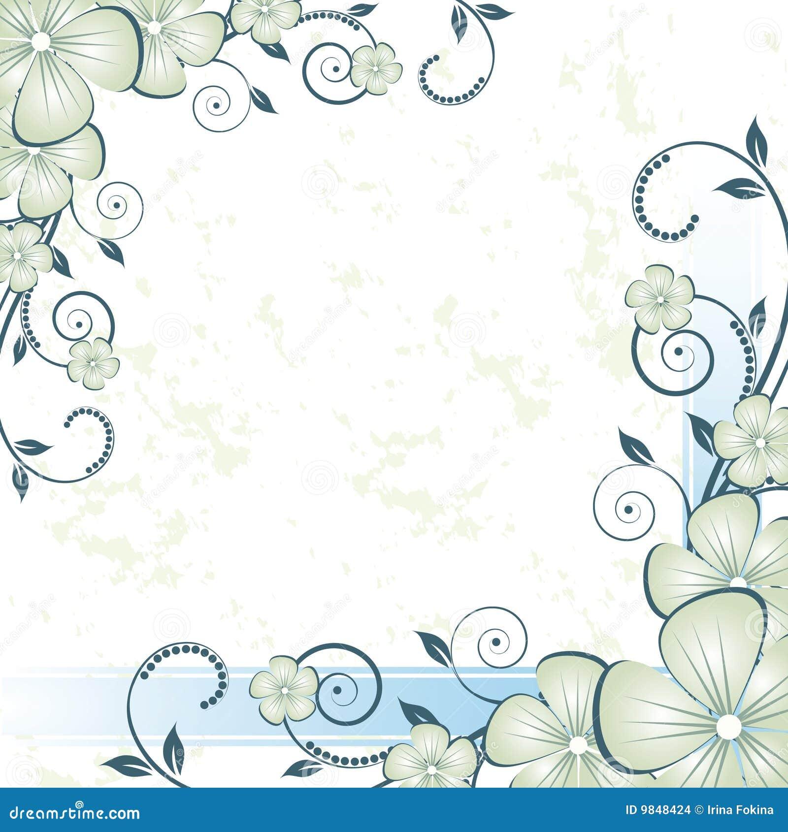 Nice Flower Grunge Background Stock Vector