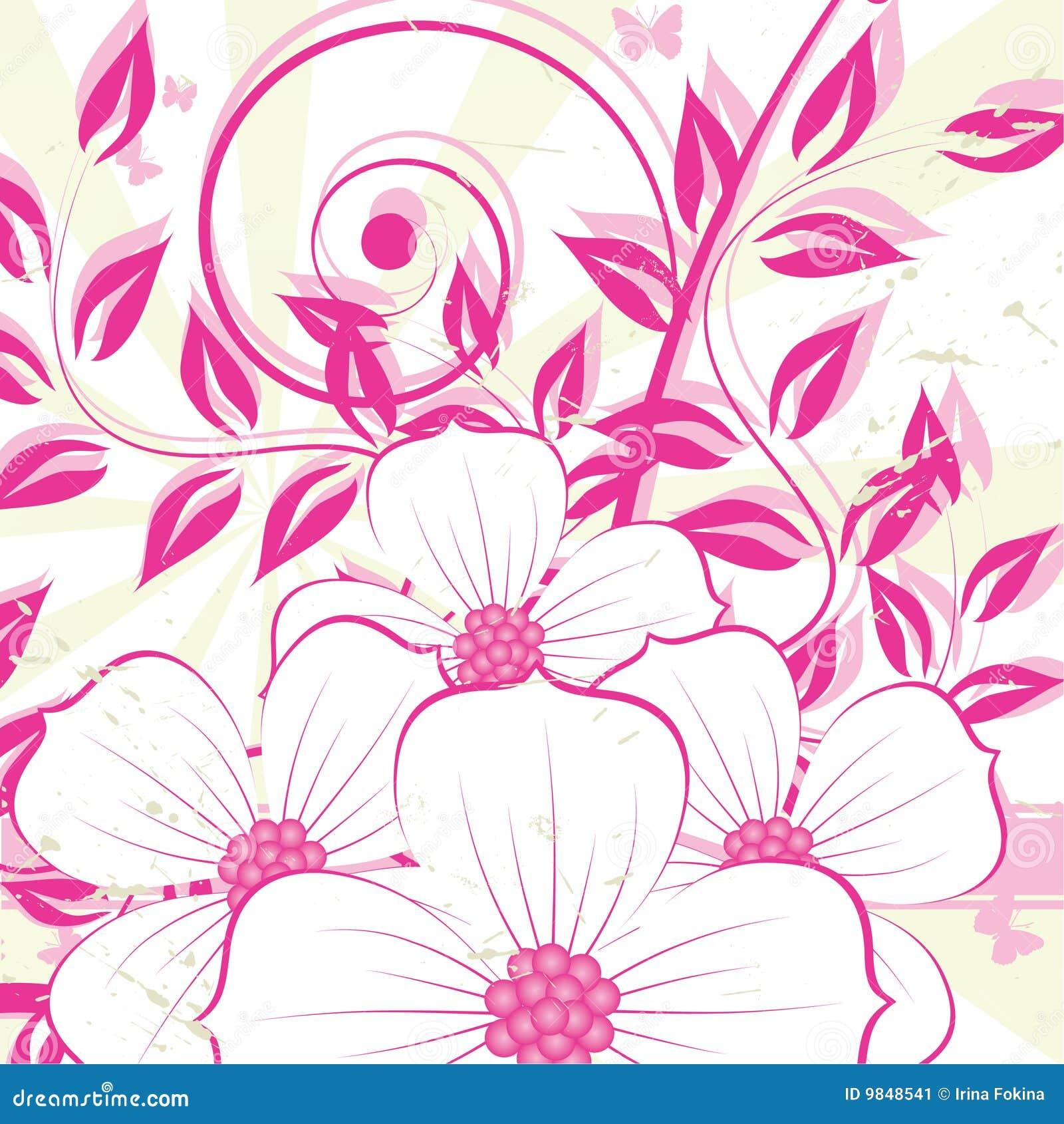 Nice Flower Grunge Background Stock Image