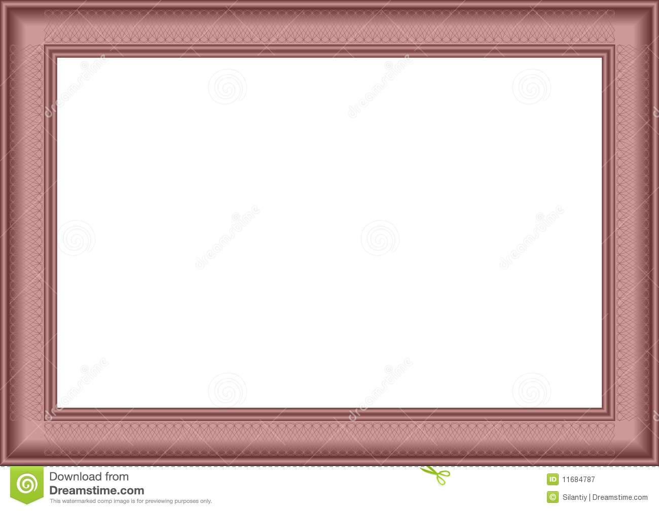 White background in a claret frame with a pattern.Vectorial ...