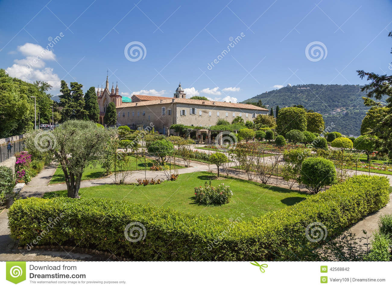 Nice france cimiez monastery garden 17 stock photo for Nice garden