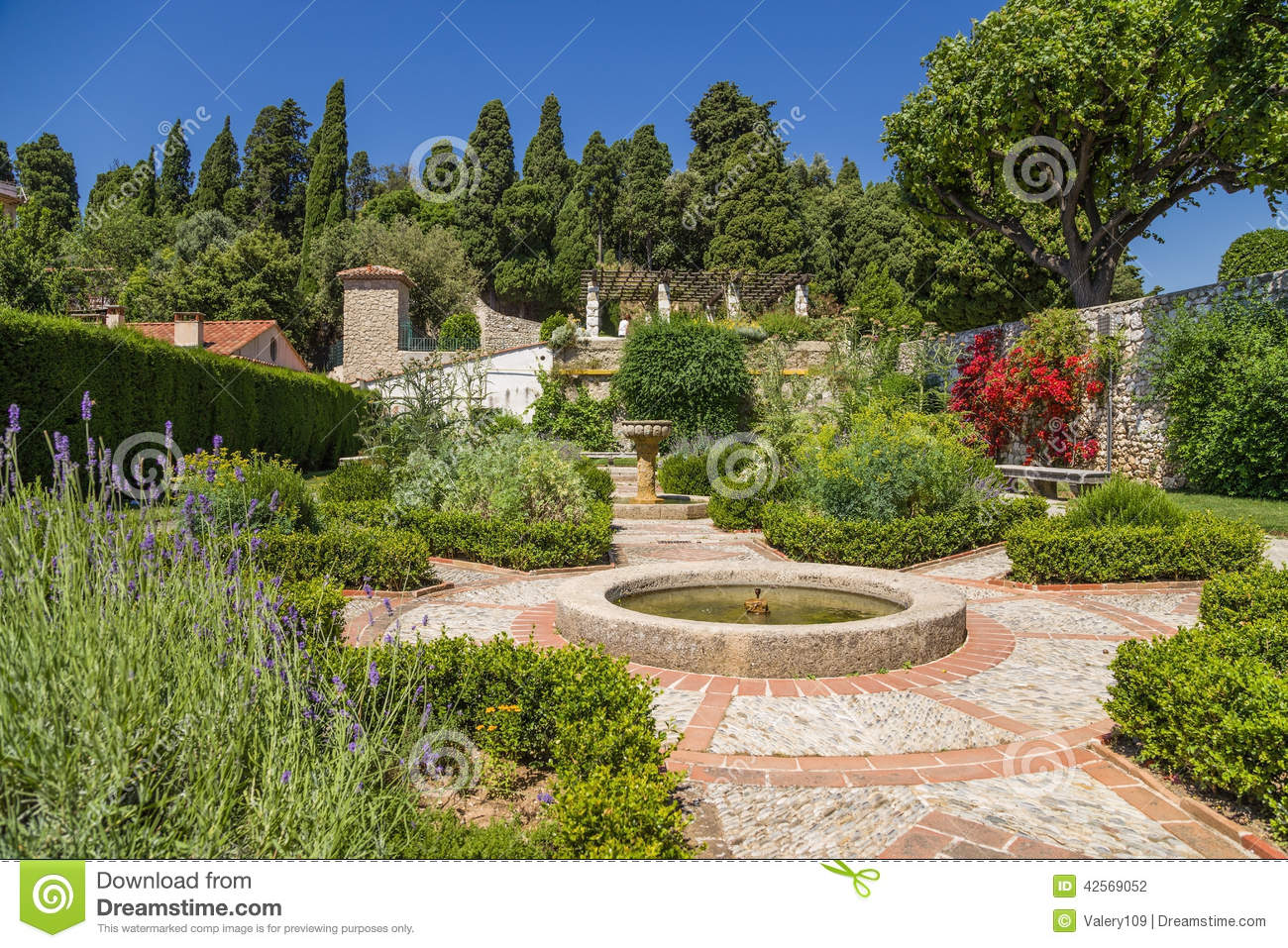 Nice france cimiez monastery garden stock photo image for Nice garden