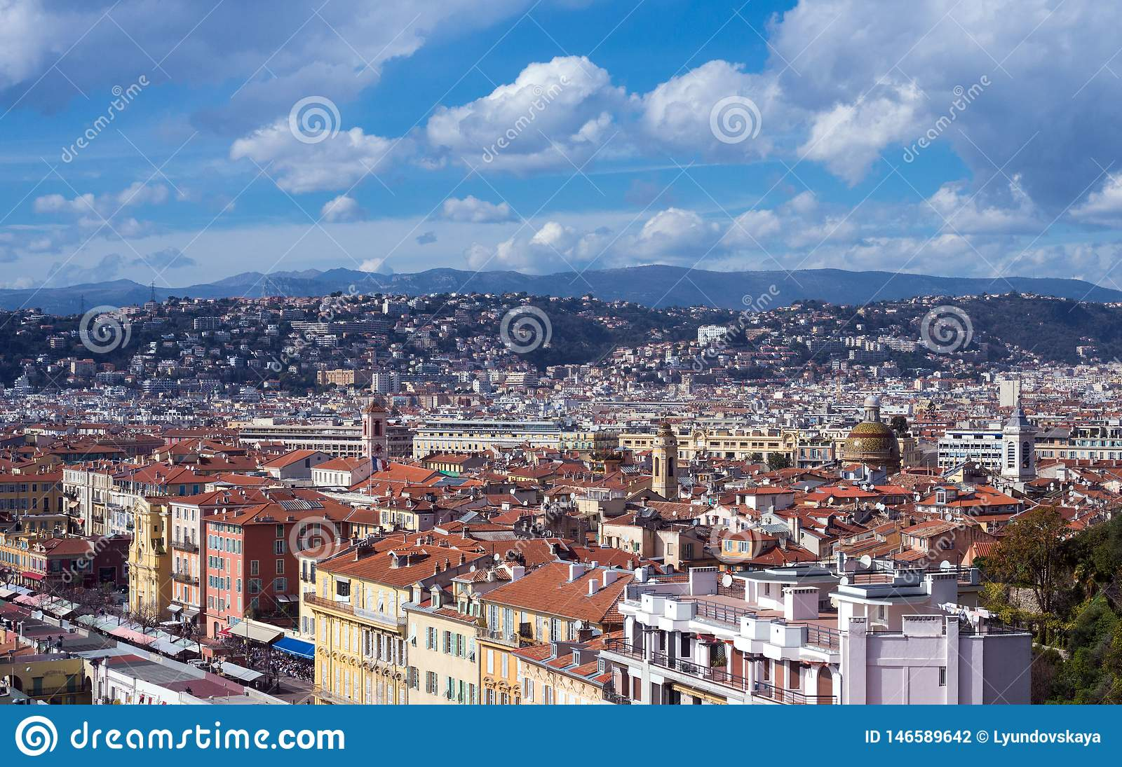 View Of The French City Of Nice From The Observation Deck ...