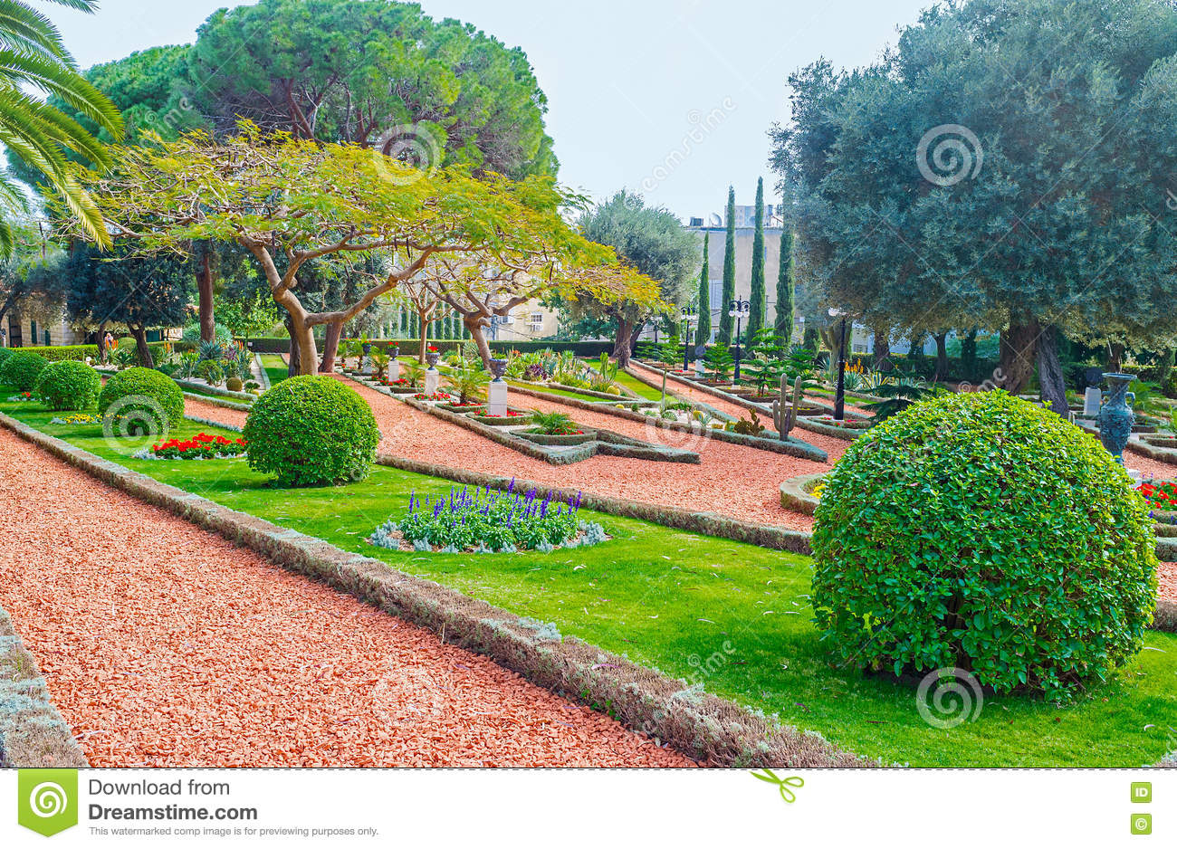 The Nice Garden Stock Image Image Of Cityscape Plant 74930509
