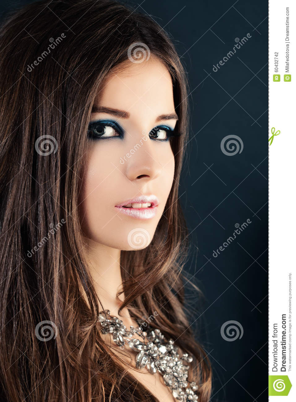nice girl. face closeup stock photo. image of makeup - 60432742