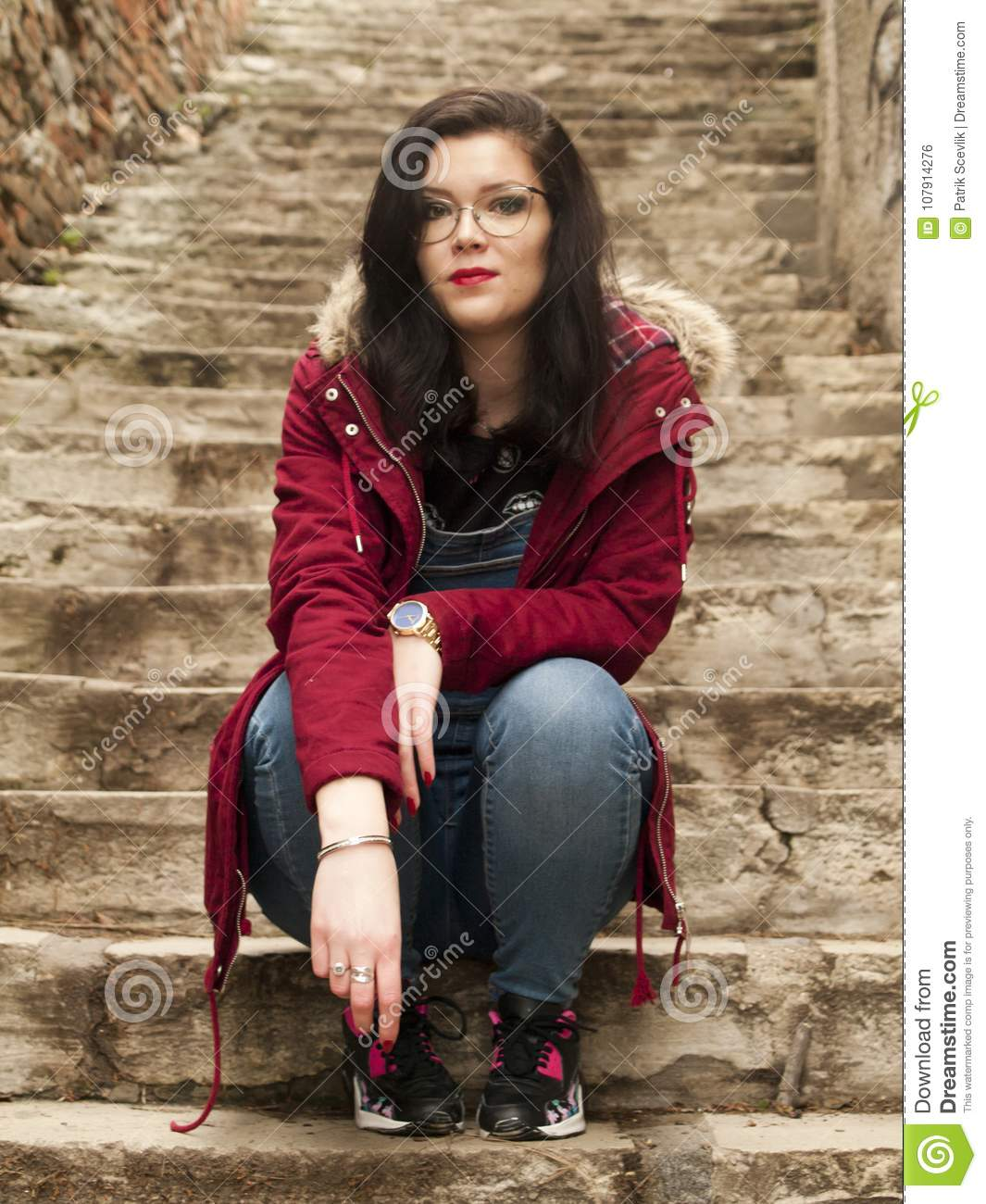 nice girl posing stock photo. image of nice, outdoor - 107914276