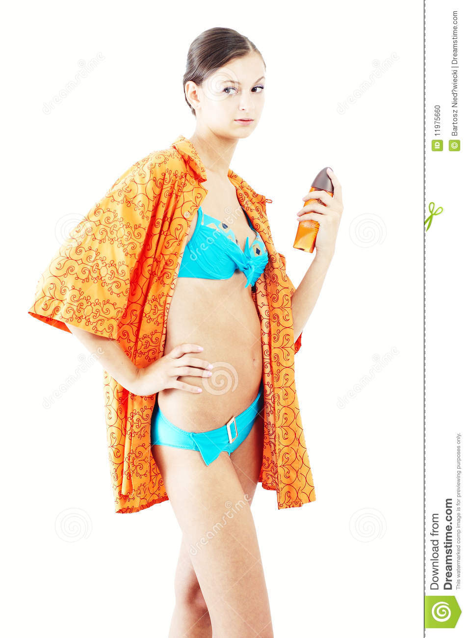Nice Girl Preparing To Take A Shower Stock Photo Image Of Female