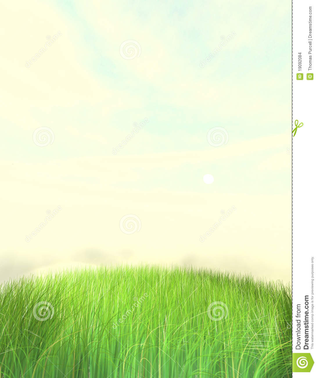 Nice Grass Lawn Background Stock Illustration