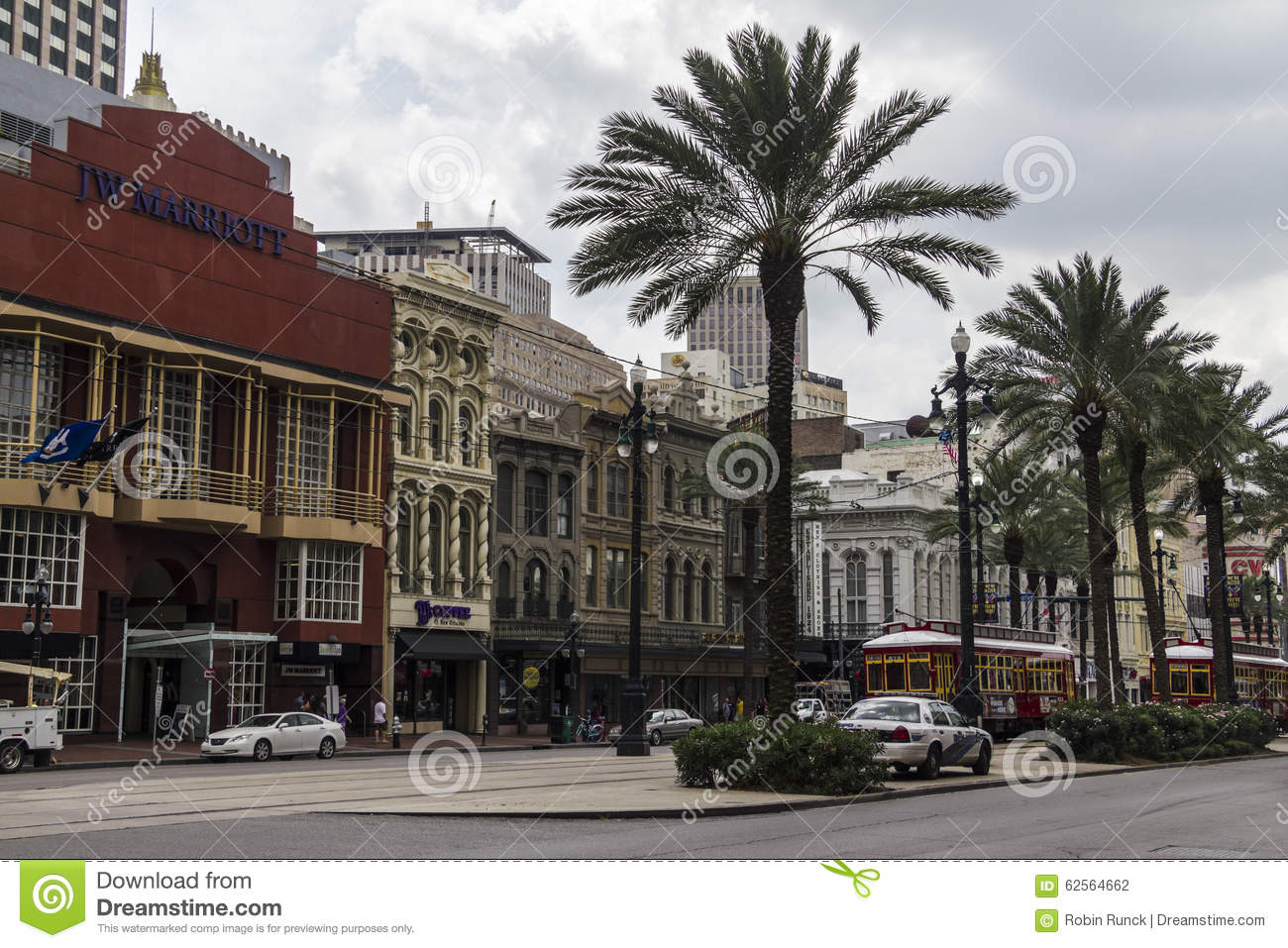 Nice, historic houses in the streets of New Orleans