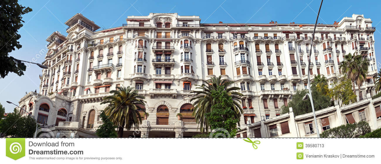 Nice hotel le majestic editorial stock photo image for Hotel le france