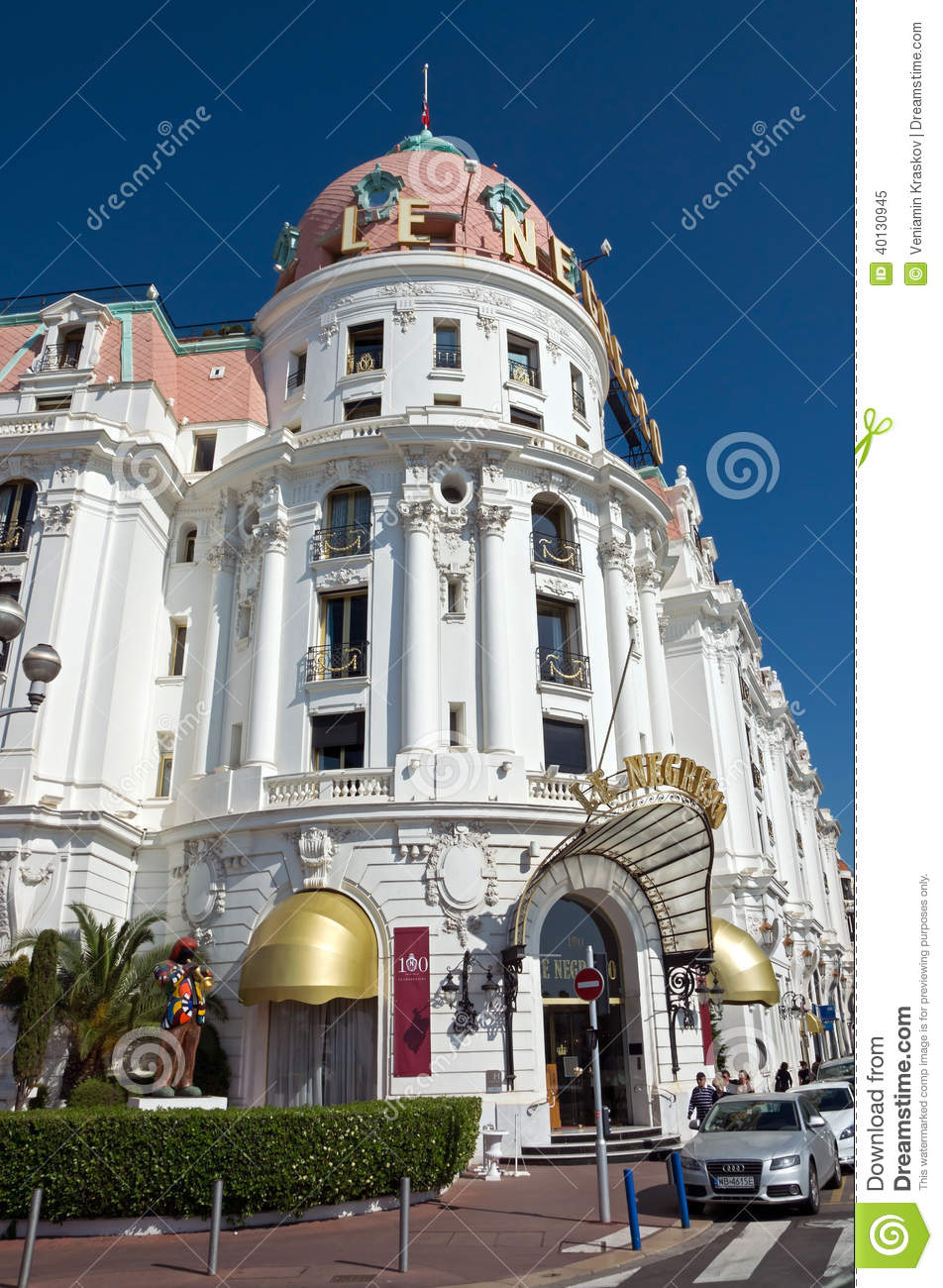 Nice hotel negresco editorial image image 40130945 for Luxury hotels in nice