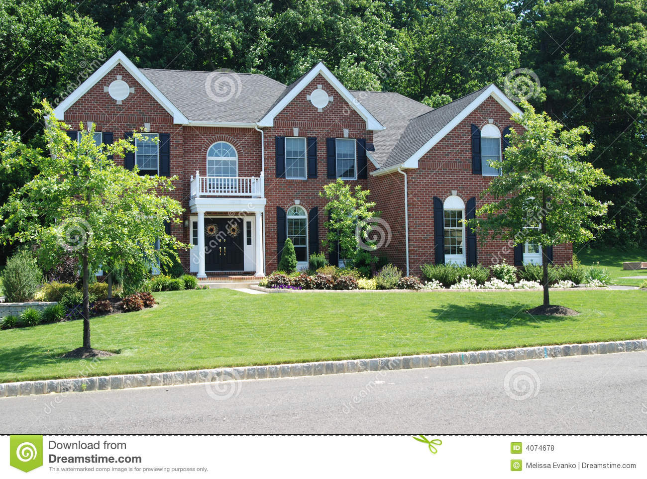 Nice house stock photo image of mortgage real grass for Nice home photos