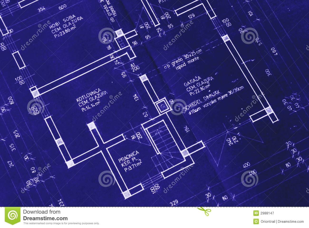 Nice house blueprint royalty free stock photography Blueprint builder free