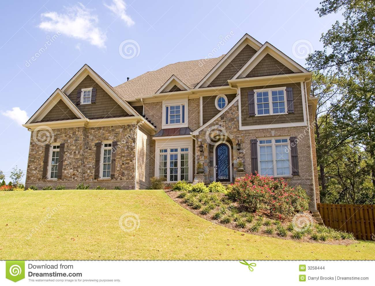 Nice house on landscaped hill stock images image 3258444 for Nice house images