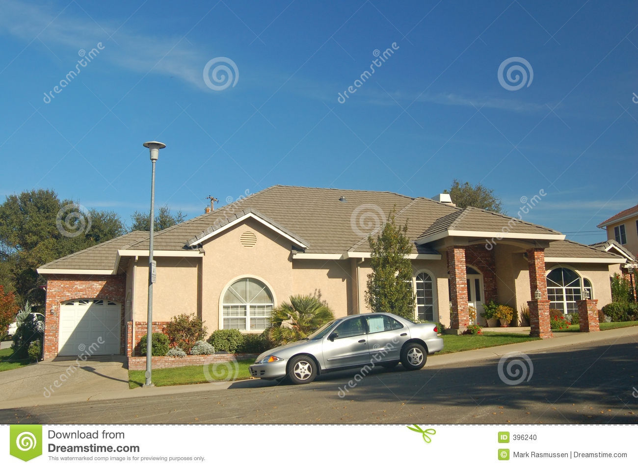 Nice house in the suburbs stock photo image of living for Nice home image