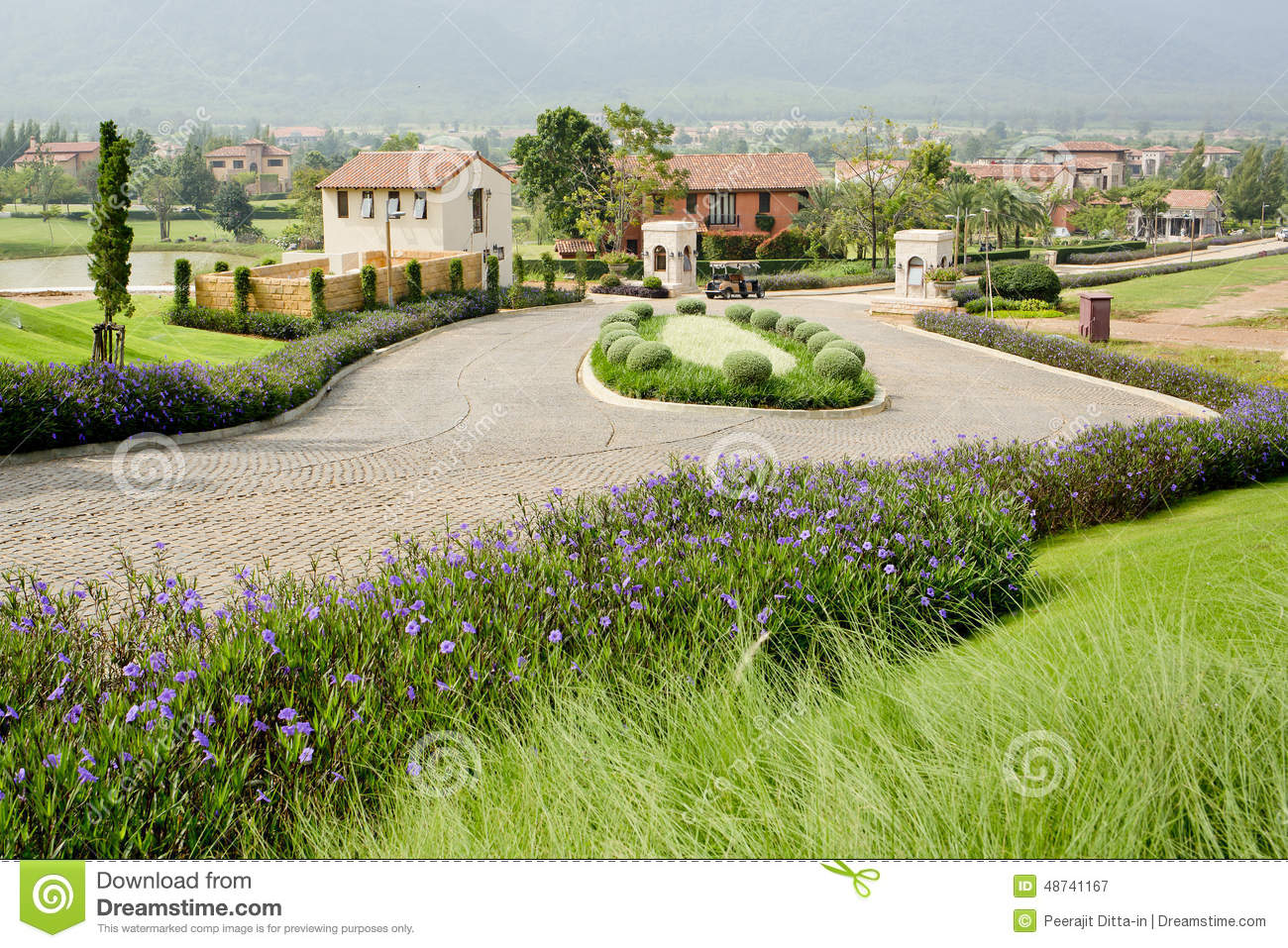Nice Houses With Beautiful Garden And Walk Way In Small Village Stock Image Image Of Outside Outdoor 48741167
